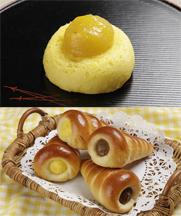 【和菓子】栗味饅頭【製パン】コロネ(カスタード・チョコ)