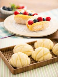 【洋菓子】チーズブッセ【製パン】メロンパン
