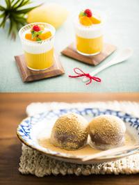 製菓コース【洋菓子】なめらかマンゴーヨーグルト【和菓子】わらび餅