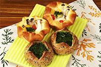 きのこと野菜のホワイトソースパン, ささめのゴマパン