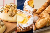 <夏休み特典つき!>【製パン】 キノコのフォカッチャ, クロワッサン (クリームチーズ), フランスパン