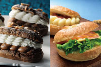 【洋菓子】チョコレートのエクレール【製パン】ベーグル