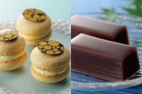 【洋菓子】マカロン パッションマンゴー 【和菓子】水ようかん