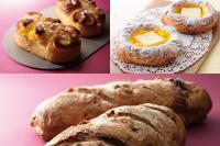 【製パン】アップルカスタード、クロワッサン(クリームチーズ)、セーグル ノア フィグ