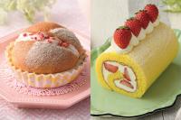【製パン】苺のスイートブール 【洋菓子】苺のミルキーロール