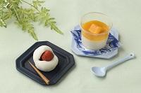 【和菓子】マンゴー杏仁豆腐、苺大福