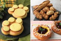 【製パン】肉球あんぱん、フランスパン各種、ダークチェリー