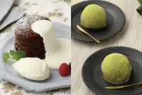 【洋菓子】カフェ体験つき!ガトーショコラ バニラアイス添え 【和菓子】抹茶わらび餅
