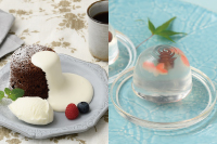 【洋菓子】カフェ体験つき!ガトーショコラ バニラアイス添え 【和菓子】錦玉「金魚」