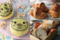 【製パン】お絵描きメロンパン、クロワッサン、パン ド セーグル ノア フィグ