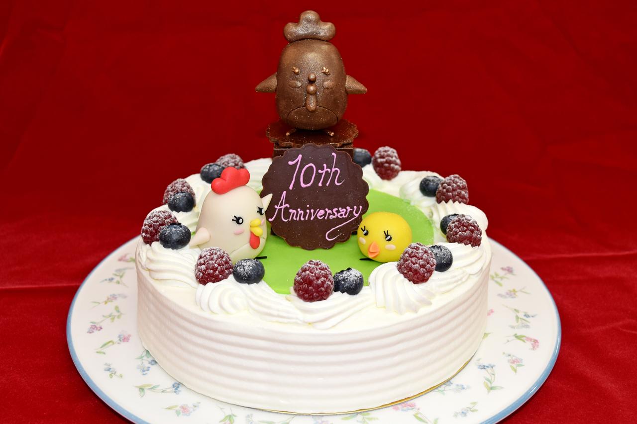進学情報サイト「ベスト進学ネット」の10周年を記念したケーキを製作しました。